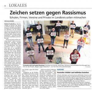 RegionGegenRassismus_ZeitungsartikelWLZ_16Mai2020