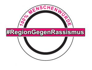 Logo Region Gegen Rassismus blanko